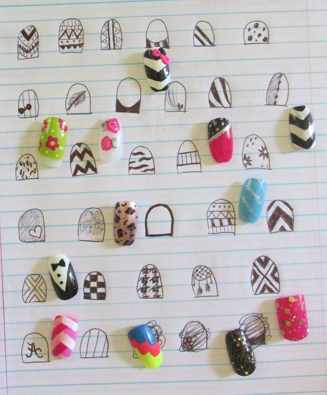 Nail Art Sketches! – Polished by Amy