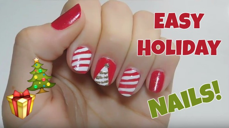 Simple holiday nail art tutorial polished by amy prinsesfo Image collections