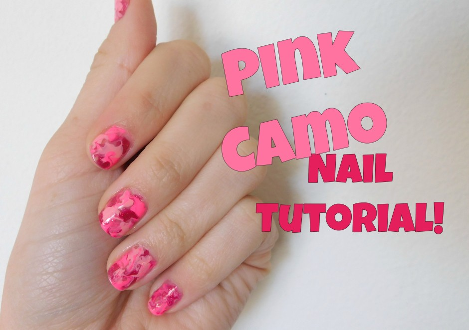 Pink Camo Nail Art Tutorial - Pink Camo Nail Art Tutorial – Polished By Amy